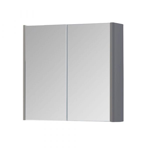 K Vit Options Mirror Cabinet 800mm Basalt Grey