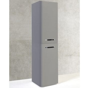 K Vit Options Wall Mounted Side Unit 350mm Basalt Grey