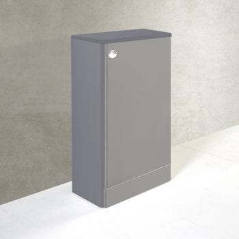K Vit Options WC Unit With Cistern 500mm Basalt Grey