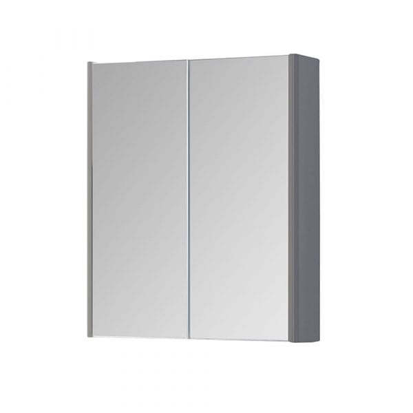 K Vit Options Mirror Cabinet 500mm Basalt Grey
