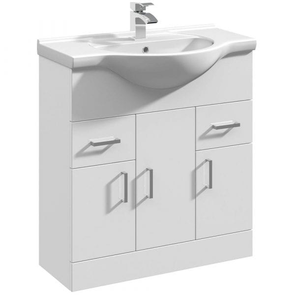 Premier Mayford 850mm Vanity Unit White