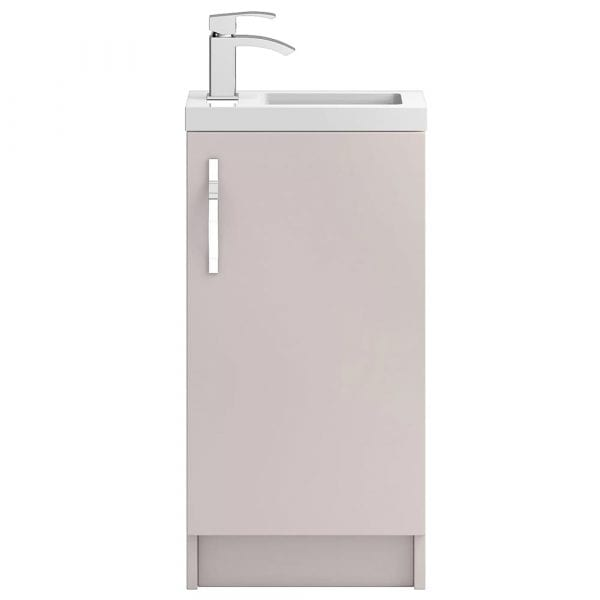 Hudson Reed Apollo Slimline Vanity Unit 400mm Cashmere Gloss
