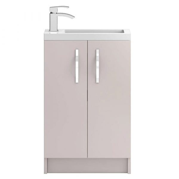 Hudson Reed Apollo Slimline Vanity Unit 500mm Cashmere Gloss