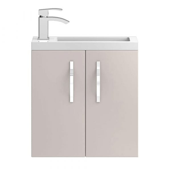 Hudson Reed Apollo Slimline Wall Hung 500mm Cashmere Gloss