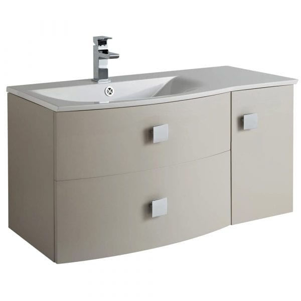Hudson Reed Sarenna Wall Hung Vanity 1000mm L/H Cashmere