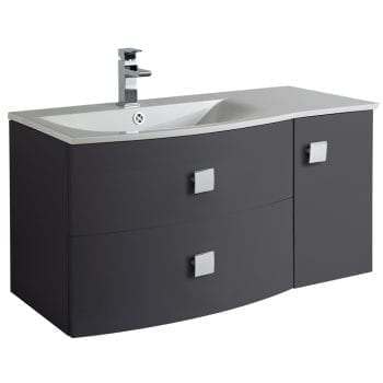 Hudson Reed Sarenna Wall Hung Vanity 1000mm L/H Graphite