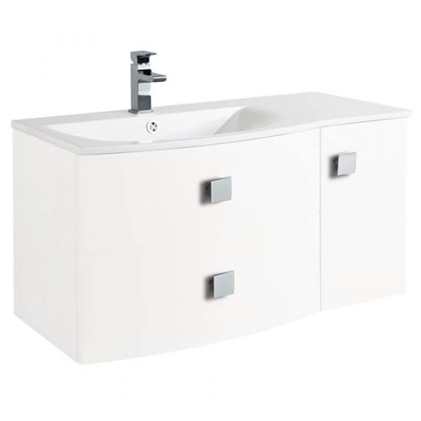 Hudson Reed Sarenna Wall Hung Vanity 1000mm L/H White