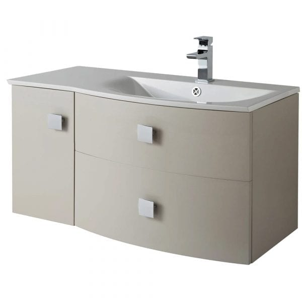 Hudson Reed Sarenna Wall Hung Vanity 1000mm R/H Cashmere