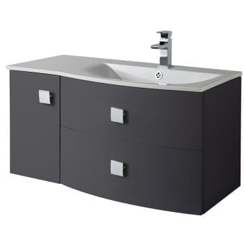 Hudson Reed Sarenna Wall Hung Vanity 1000mm R/H Graphite