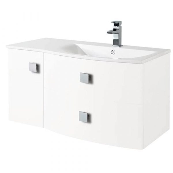 Hudson Reed Sarenna Wall Hung Vanity 1000mm R/H White