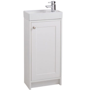 Cassellie White Mini Cottage Vanity Unit