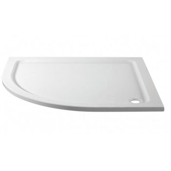 1000 x 800 Offset Quadrant Left Hand Stone Shower Tray