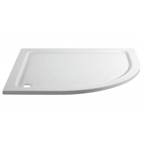 1000 x 800 Offset Quadrant Right Hand Stone Shower Tray