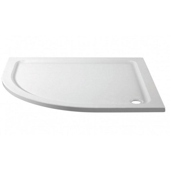 1200 x 900 Offset Quadrant Left Hand Stone Shower Tray