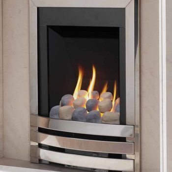 Flavel Windsor Gas Fire Contemporary Silver