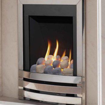 Flavel Windsor Gas Fire Contemporary Silver