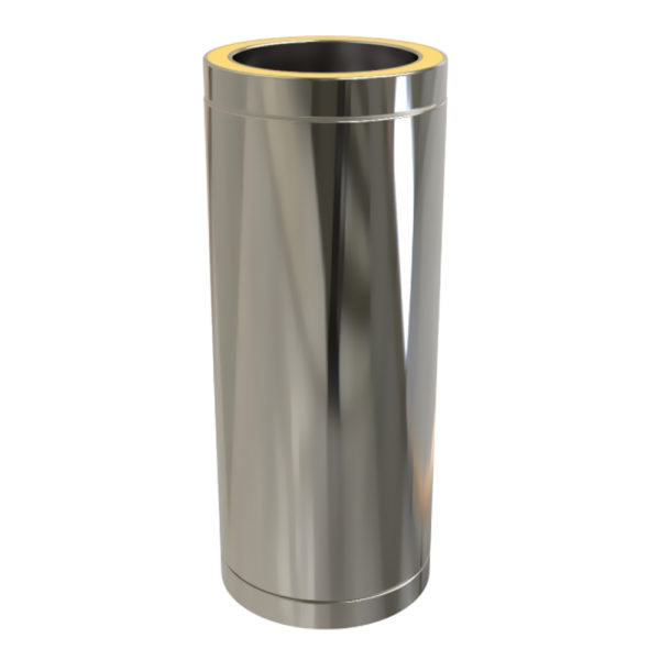 TWPro 125mm Twin Wall Insulated Pipe 500mm Stainless Steel