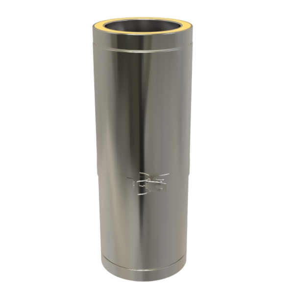 TWPro 125mm Twin Wall Insulated Adjustable Pipe 350-500mm Stainless Steel