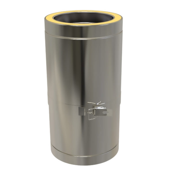 TWPro 125mm Twin Wall Insulated Adjustable Pipe 250-350mm Stainless Steel