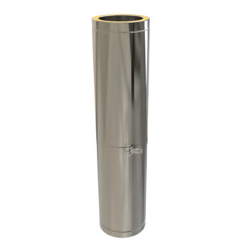 TWPro 125mm Twin Wall Insulated Adjustable Pipe 800-1300mm Stainless Steel