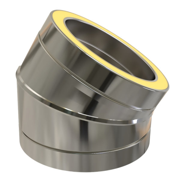 TWPro 125mm Twin Wall Insulated 30 Degree Bend Stainless Steel