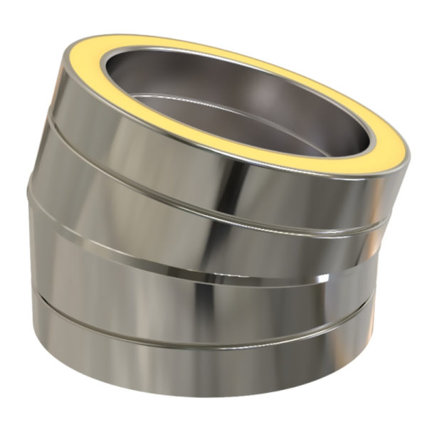 TWPro 125mm Twin Wall Insulated 15 Degree Bend Stainless Steel