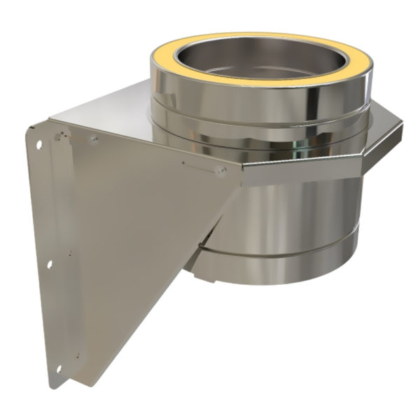 TWPro 125mm Twin Wall Adjustable Base Support Stainless Steel