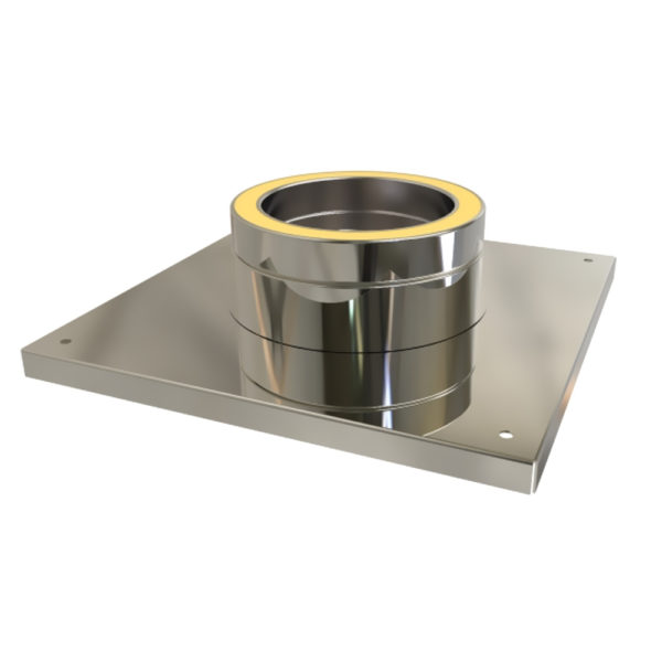TWPro 125mm Twin Wall Console Plate 125mm Stainless Steel