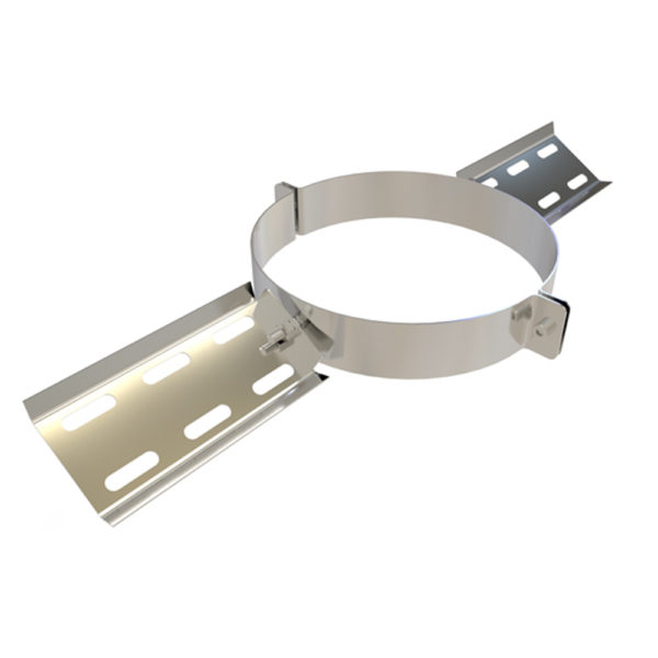 TWPro 125mm Twin Wall Roof Support Stainless Steel