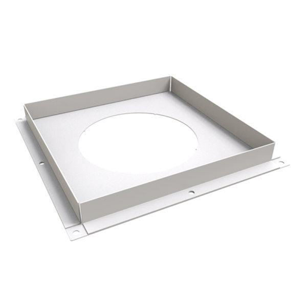 TWPro 125mm Twin Wall Ventilated Firestop Plate White