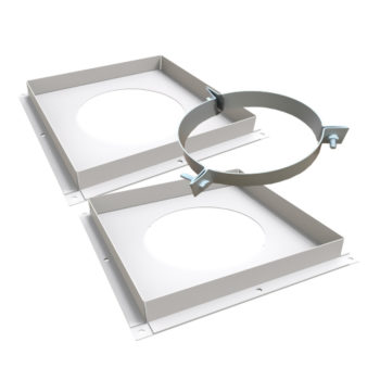 TWPro 125mm Twin Wall Ventilated Firestop Support Kit White