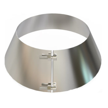 TWPro 125mm Twin Wall Storm Collar Stainless Steel
