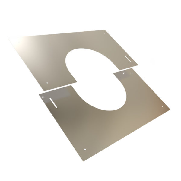 TWPro 125mm Finishing Plate Stainless Steel 0-30 Degree