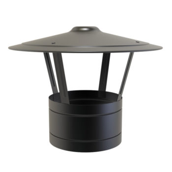 TWPro 125mm Twin Wall Insulated Rain Cap Black