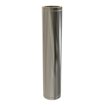 TWPro 150mm Twin Wall Insulated Pipe 1000mm Stainless Steel