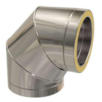 TWPro 150mm Twin Wall Insulated 90 Degree Bend Stainless Steel