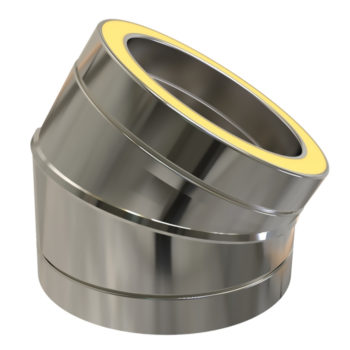 TWPro 150mm Twin Wall Insulated 30 Degree Bend Stainless Steel