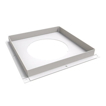 TWPro 150mm Twin Wall Ventilated Firestop Plate White
