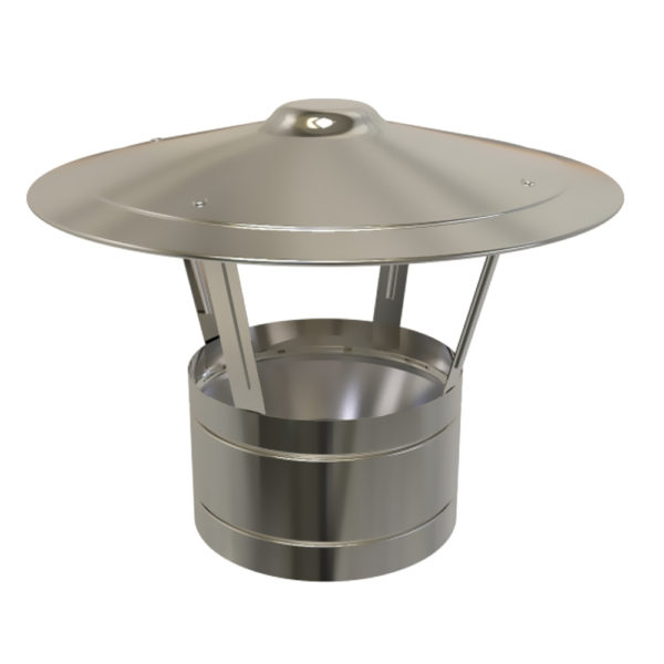 TWPro 150mm Twin Wall Insulated Rain Cap Stainless Steel