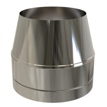 TWPro 150mm Twin Wall Insulated Cone Top Cowl Stainless Steel