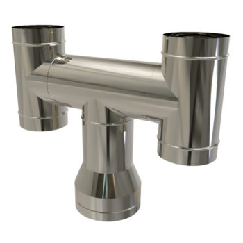 TWPro 150mm Twin Wall Insulated H Cowl Stainless Steel