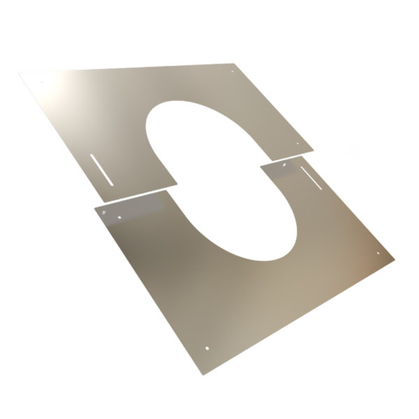 TWPro 150mm Finishing Plate Stainless Steel 30-45 Degree