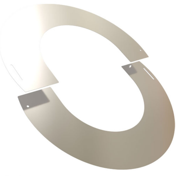 TWPro 150mm Round Finishing Plate Stainless Steel 90 Degree