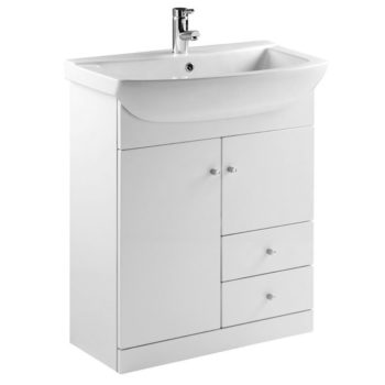Elation Ikoma 750 Vanity Unit Gloss White