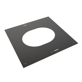 TWPro 150mm Finishing Plate Black 30-45 Degree