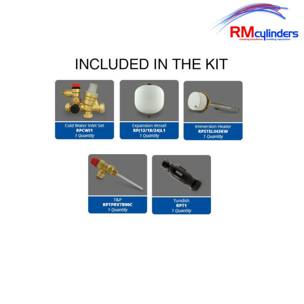 RM Cylinders Optimum 300L Direct Unvented Cylinder