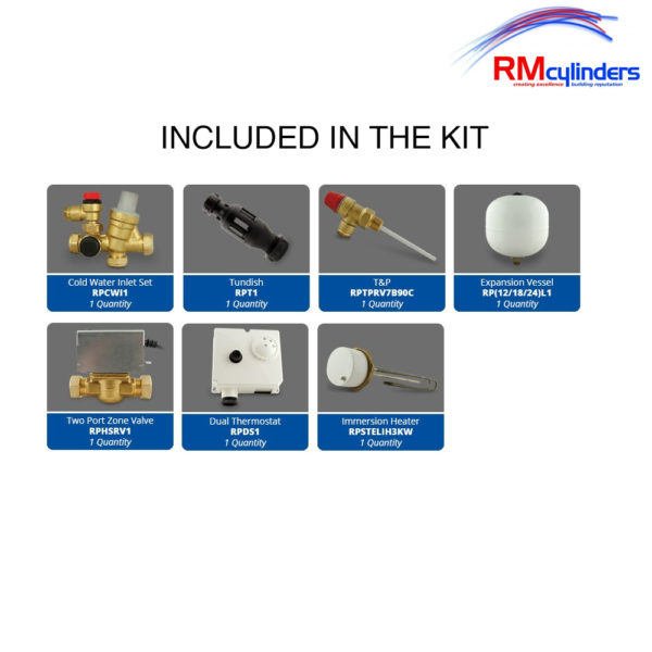 RM Cylinders Optimum 300L Indirect Unvented Cylinder