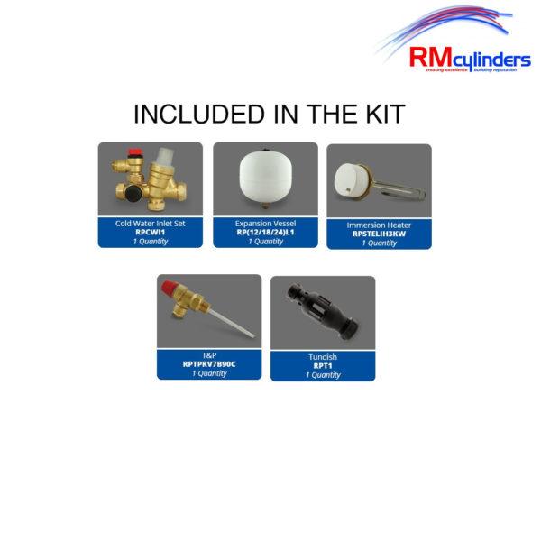RM Optimum 120L Direct Slim Unvented Cylinder