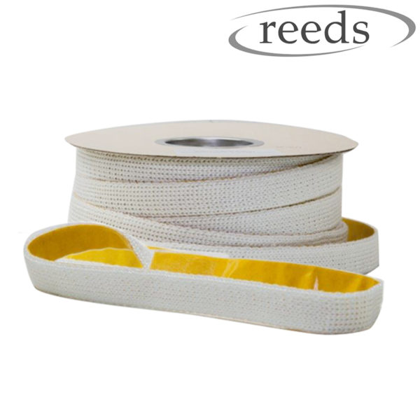 Flat Stove Rope Self Adhesive White