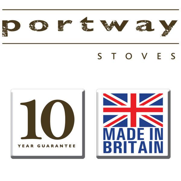 Portway 1 Glass Multifuel Stove Bronze